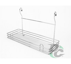 Big rail single wire rack Chrome