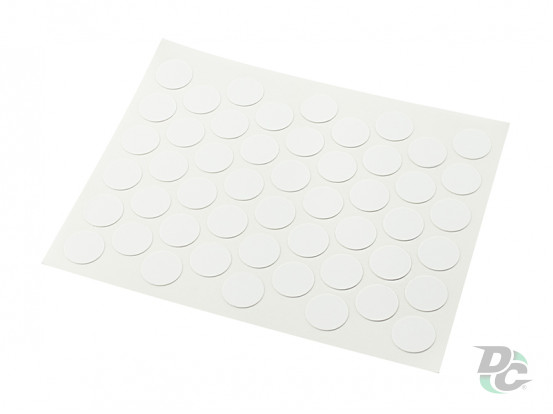 Confirmat screw self-adhesive cap Gloss White 0311