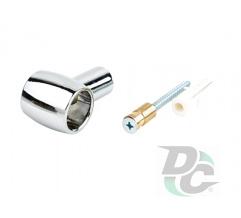 Railing holder Retro chrome DC OptimaLine