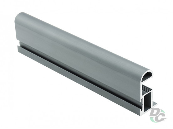 Modena S-shaped profile with channel L-5,1 m Smoky Gtay DC ProfiLine
