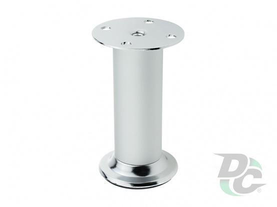 Adjustable furniture leg DA 10/100 AL/G2 Aluminum / Chrome DC EuroLine