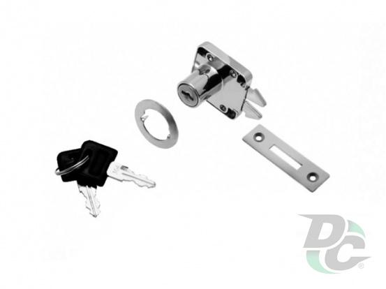 Lock KL-202-22 for roll door Chome DC