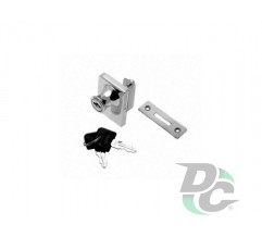 Lock KL-409 for two glass doors Chrome DC