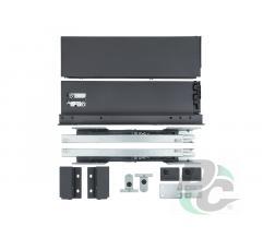 Tandembox SLIM L-500mm H-118mm for 18mm chipboard Graphite   DC PremiumLine