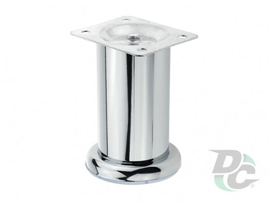 Furniture leg DZ 13/100 G2 Chrome H-100mm D-50 mm DC EuroLine