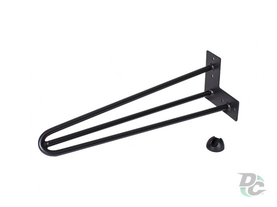 Hairpin table leg H-406 with protector feet Black DC StandardLine