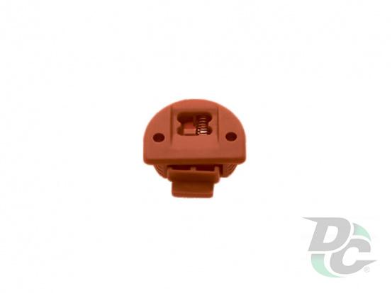 Plastic sliding door system (upper roller Brown)