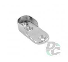Oval tube end holder chrome DC