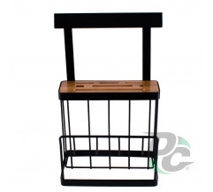 Kitchen rack for knives and boards Black