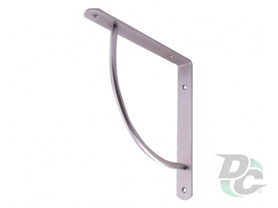 C-shaped iron shelf bracket 222x222 Matt Chrome (Aluminium) DC
