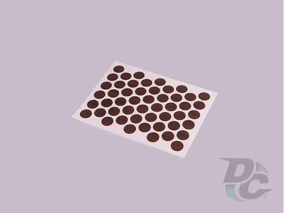 Confirmat screw self-adhesive cap Dark Walnut 7455