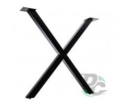 X-Shaped table leg H-710 Black DC StandardLine