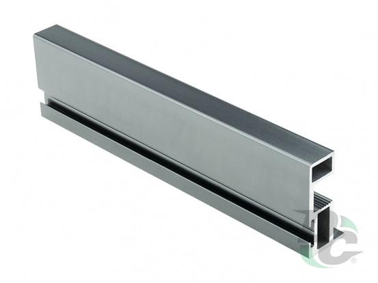 Bavaria vertical open profilewith a slot L-5,1m Matt Graphite DC ProfiLine