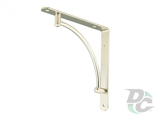L-shaped iron shelf bracket 222x222 Matt Nickel (Satin) DC
