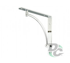 L-shaped iron shelf bracket 222x222 Chrome DC