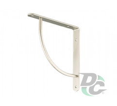C-shaped iron shelf bracket 222x222 Matt Nickel (Satin) DC