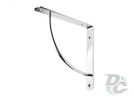 C-shaped iron shelf bracket 222x222 Chrome DC