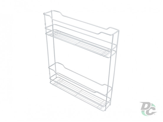Drawer basket White 150/2 left / righ tDC