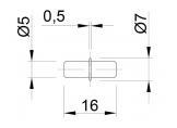 Zinc plated shelf support 5x16mm