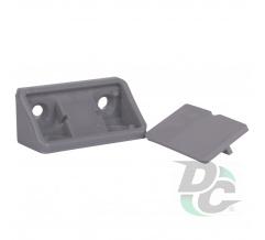 Double mounting corner Dark Grey, Titanium, Metallic DC