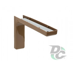 Mounting corner with overlay L-120mm Brown DC