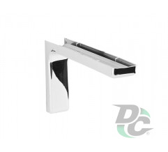 Mounting corner with overlay L-120mm Chrome DC