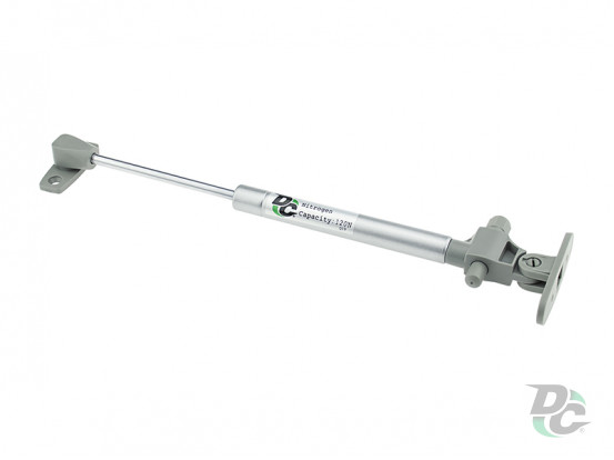 Gas spring for chipboard 120N with damper, grey DC PremiumLine