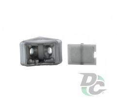 Single mounting corner Dark Grey  DC