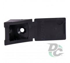Single mounting corner Black DC