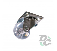 Castor d-35 mm polyurethane with plate DC