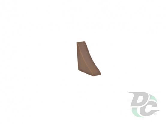 Countertop plinth end  cap DC Dark Brown 60