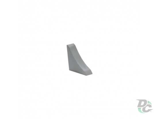 Countertop plinth end cap DC Aluminium 110