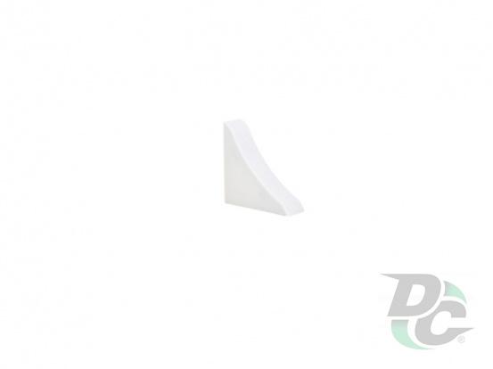 Countertop plinth end  cap DC White 50