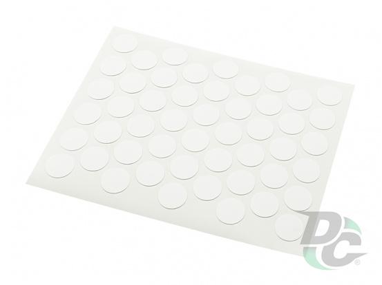Confirmat screw self-adhesive cap Smooth Matt White 1120