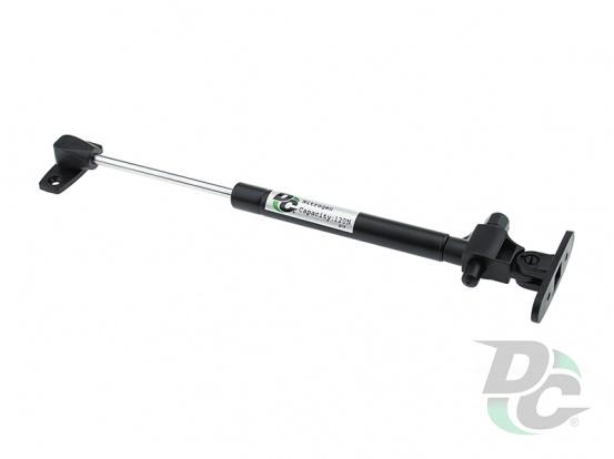 Gas spring for chipboard 120N with damper, black DC PremiumLine