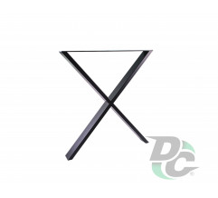 XX-Shaped table leg H-710 Black DC StandardLine