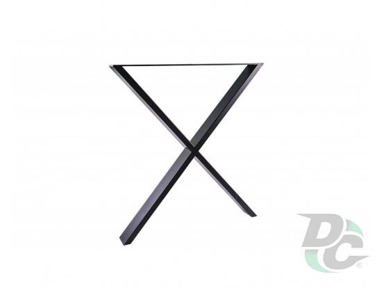 XX-Shaped table leg H-710 Black DC StandardLine
