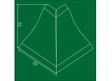 Outer corner for plinth Zebrano 112 (77,99,111) DC