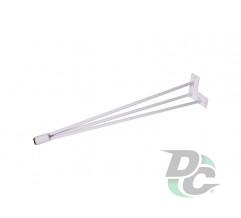 Conic hairpin table leg H-710 White DC StandardLine