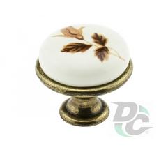 Furniture handle DC DG 192 G4 old bronze/MLK2 brown rose (OL)