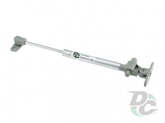 Gas spring for chipboard 80N with damper, grey DC PremiumLine