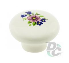 Furniture handle DC DG 20 MLK1 pink flower (big) (OL)