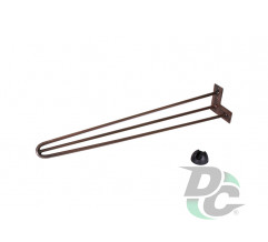 Hairpin table leg H-710 with protector feet Copper DC StandardLine
