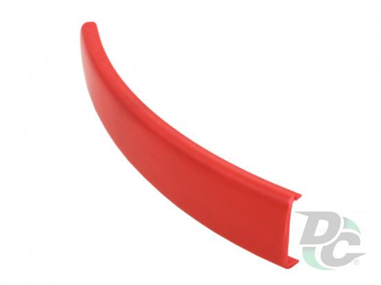 Flexible C-type profile for 16 mm board Red (unicolour) 127 DC
