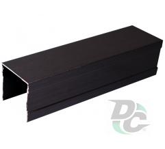 Upper single rail L-5,5m Black Wood DC OptimaLine