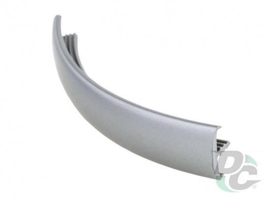 Flexible T- type profile for 16 mm board Matte Chrome (Satine, Aluminum) structural 331Y DC