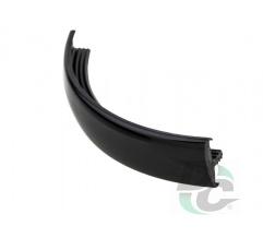 Flexible T- type profile for 16 mm board Black (unicolour) 500 DC