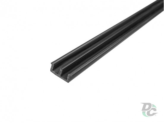 Low glass door profile Black