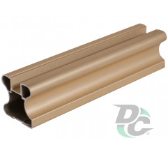 Vertical closed profile L-5,1m Gold DC OptimaLine