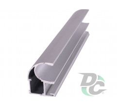 Vertical open profile L-4,9m Silver DC OptimaLine